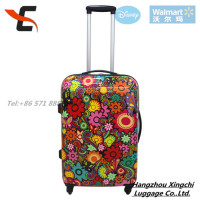 Genuine good quality flower print PC luggage/ hardside luggage