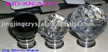 Black Crystal Door Knob in Chrome with different ball size