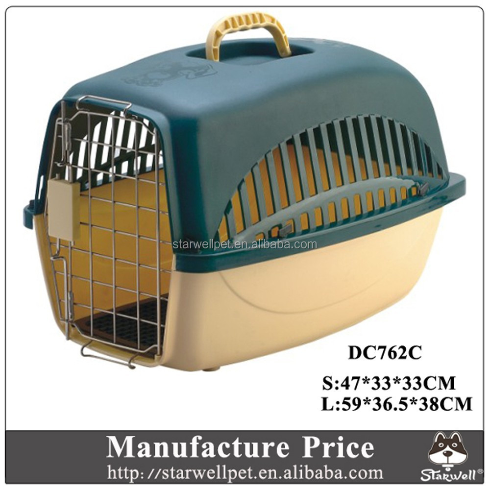 Portable plastic china dog house models with steel door