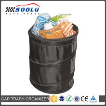 Universal Black Collapsible Pop-up Leak Proof Traveling Portable Car Trash Can