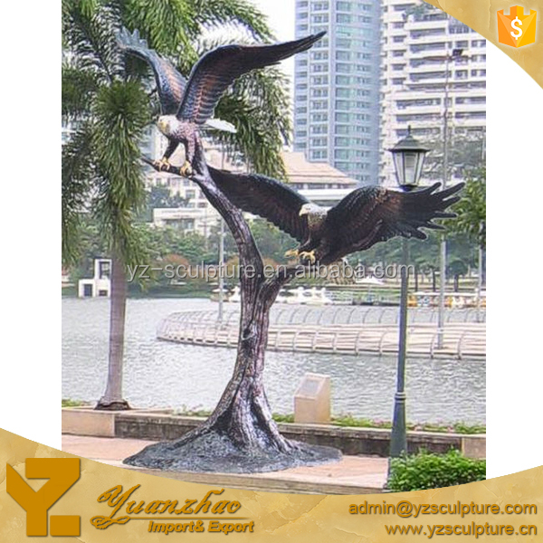 outdoor cast bronze large eagle flying statues for sale