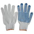 Single/Double side pvc dot cotton work glove