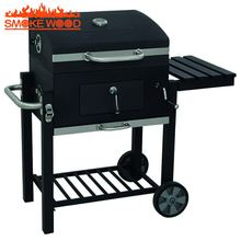 24 Inch Premium Outdoor Backyard Smoker Grill Trolley Portable Charcoal Barbecue BBQ Grill Smoker