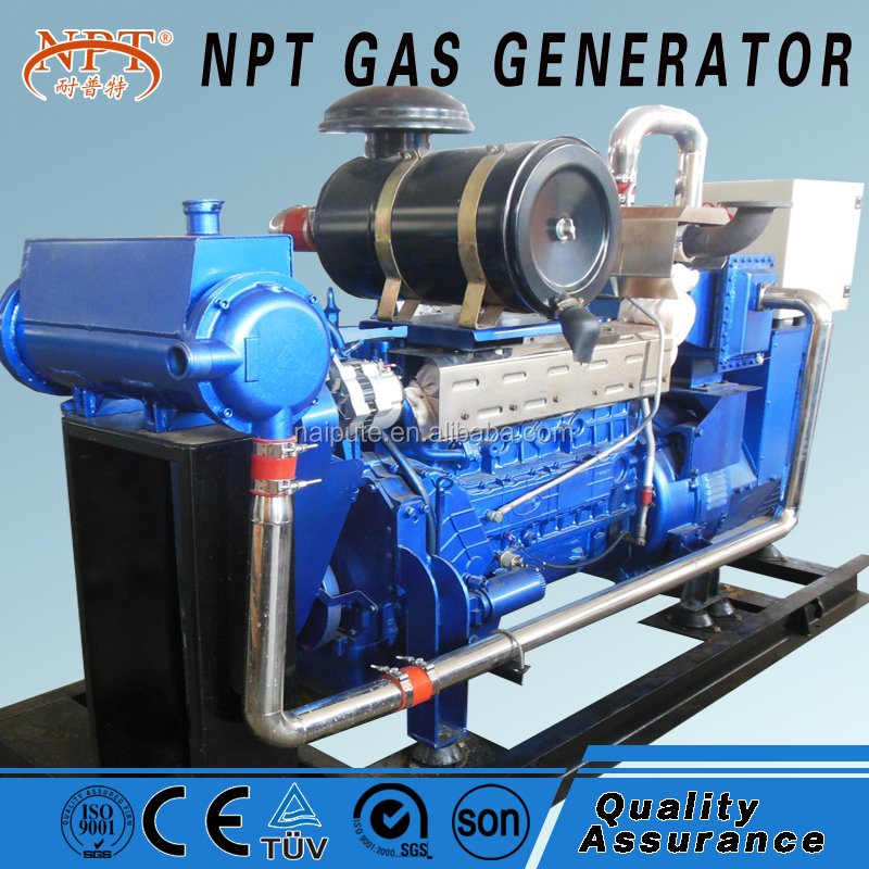 low noise natural gas powered generator