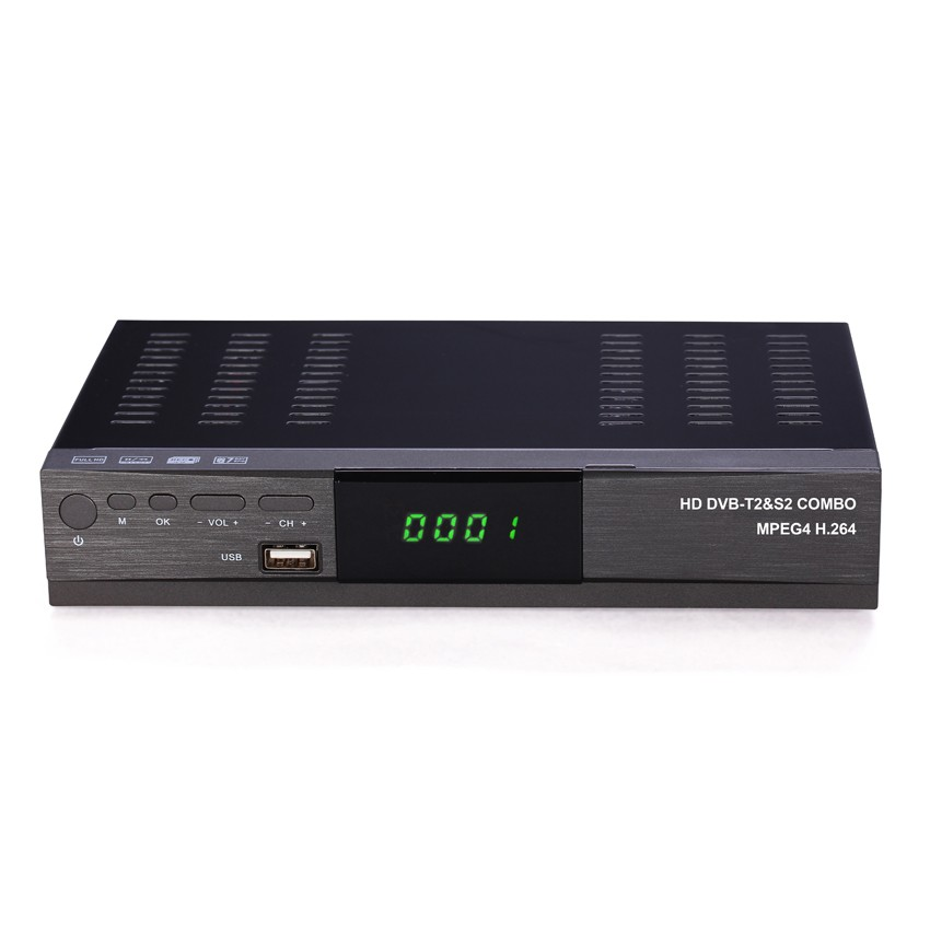 HOT SELL!!! combo receiver dvb-s2 dvb-t2 receiver with RF in and out for Africa Iraq Iran Libya Uganda Zambia