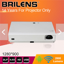 Brilens LS1280 720P DLP Home theater Shutter 3D HD Mini Portable size 3800 lumens LED+Laser Lamp Projector