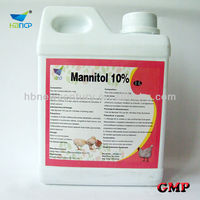 china made hot sale 500ml 1l 10% mannitol injection/suspension/solution