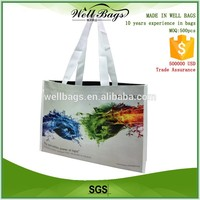 advertising eco friendly woven laminated polypropylene tote bag