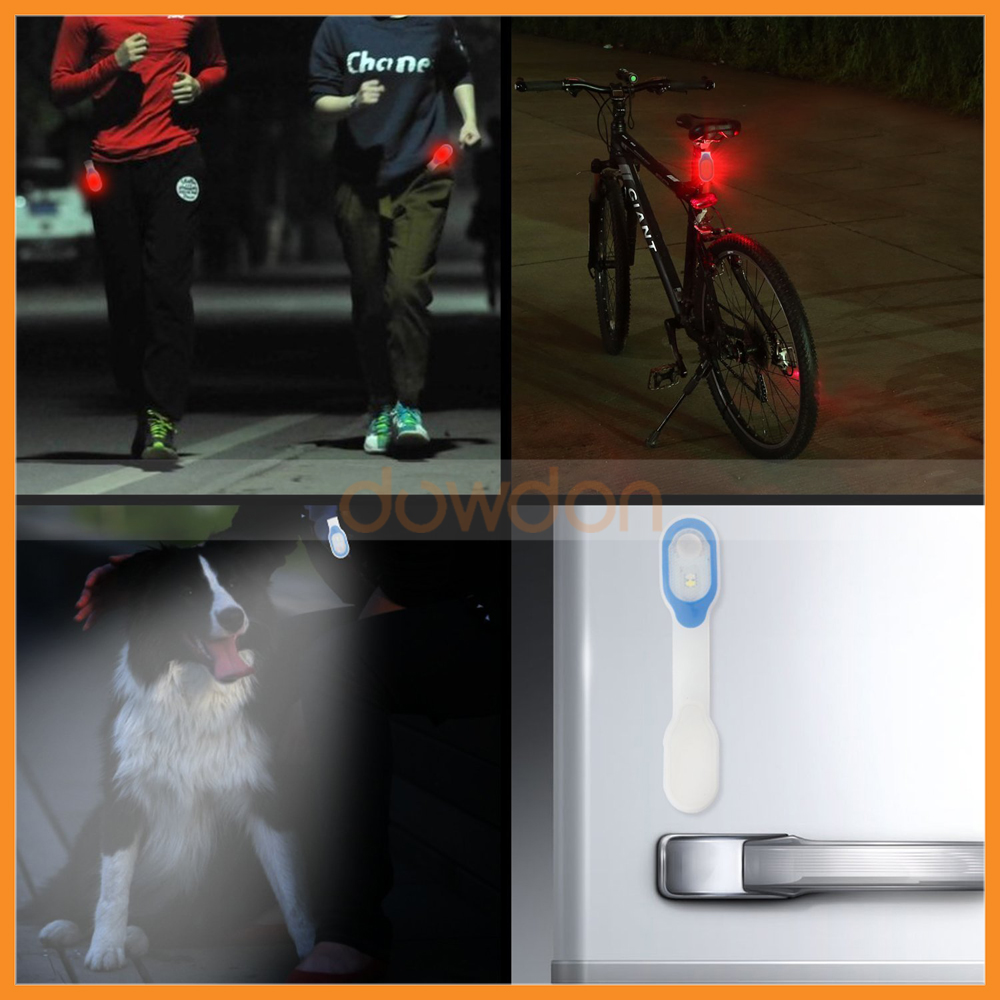 LED Silicon Clip Lamp Magnetic Warning Safety Light for Night Running Waling Dog