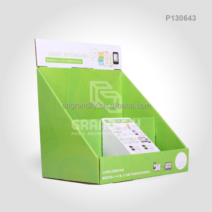 Corrugated Counter Display for Book/DVD/Card Folded PDQ with Colorful Printing