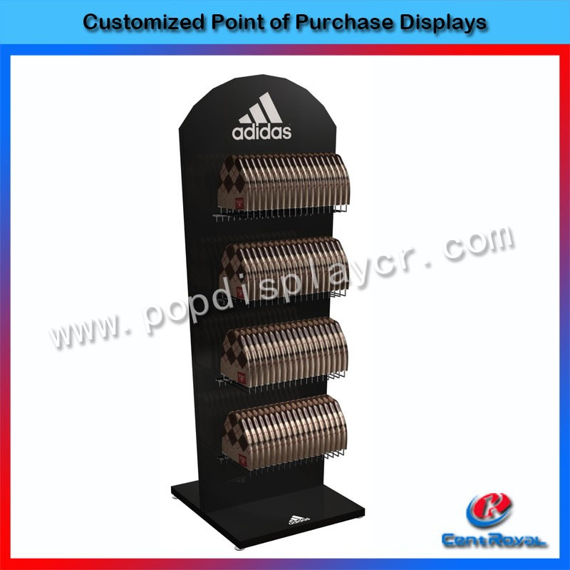 Modern hat hanging retail store wood display fixture