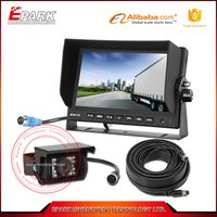 7 inch lcd monitor car reverse parking sensors with rear view camera