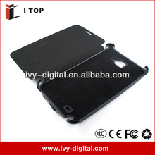 SE056-2 3200mAh Leather Case Extended Battery Power Case For Samsung Galaxy Note i9220 N7000