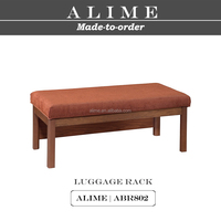 ALIME ABR802 custom hotel bedroom wood luggage rack for hotel
