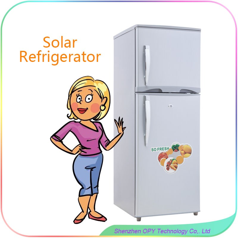 230L 12V DC AC solar fridge solar power <strong>refrigerator</strong> and freezer combo