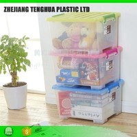 Large Flat Plastic Storage Boxes, Plastic Storage Container Storage Plastic Moving Boxes
