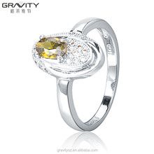 Latest designs superior quality classic amber silver finger ring