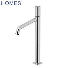 Brass high wash basin mixer tap