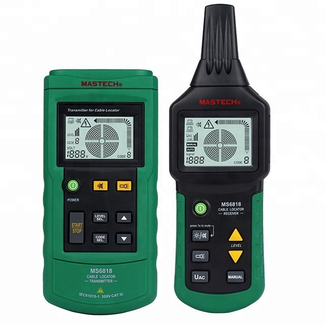 Mastech MS6818 Cable Fault Locator Metal Pipe Locator Detector <strong>Tester</strong> Meter AC/DC 12~400V