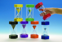 acrylic hourglass 1 2 3 5 10 15 minutes sand timer for child's game