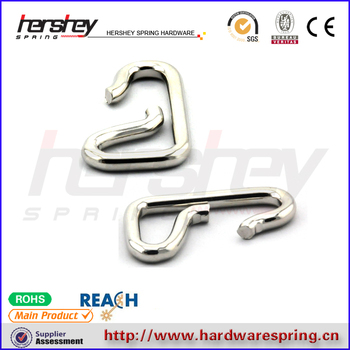nickle plated spring steel wire hooks