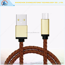 High Speed USB 3.1 Type C To USB 2.0 Male Leather Cable Data Cable for LG/Zuk/N1
