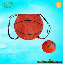 reusable basketball polyester drawstring bag