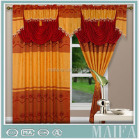 100% polyester double swag shower curtain with valance wholesale