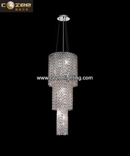 Luxury Large Hotel Crystal Chandelier Restaurant Ceiling Light Modern Design CZ9296SG