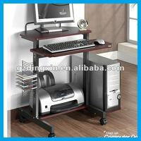 modern simple computer table laptop design with CD rack (DX-S317)
