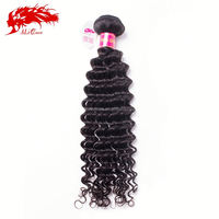 Luxury quality pure grade 7a virgin unprocessed raw deep wave mongolian hair