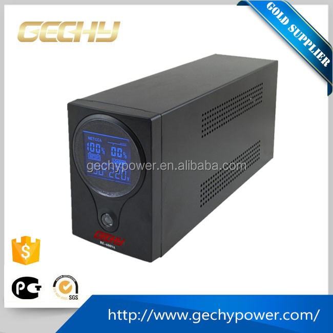600v 12v dc bettery online ture sine wave LCD Unintrruptible Power Supply/UPS for office computer