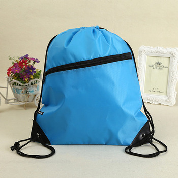 Promotional Sports Gym Sack Polyester Drawstring Bag With Logo Printed