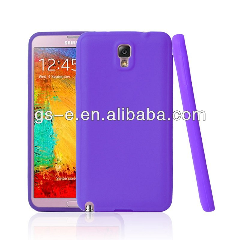 SOLID BLACK SILICONE RUBBER SKIN COVER SOFT GEL CASE for SAMSUNG GALAXY NOTE 3