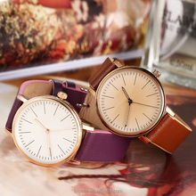 2016 Classic Korea design fashion female lady watch simple japan movement quartz watch suede leather band 1ATM