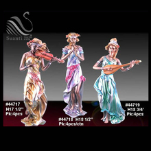 Classic music playing polyresin figurine art