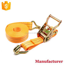 "1.5"" 38mm 2000kg Ratchet Straps with double J hook"