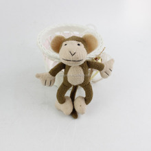 2016 Hot Sale High Quality China wholesale stuffed animal customized little monkey plush keychain toy with long tail