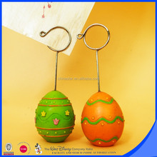Colorful egg base round wire card clip custom