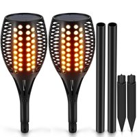 2piece Solar LED Flame Torch LED Flickering Lamp Dancing Flame Lighting Solar Light garden lights