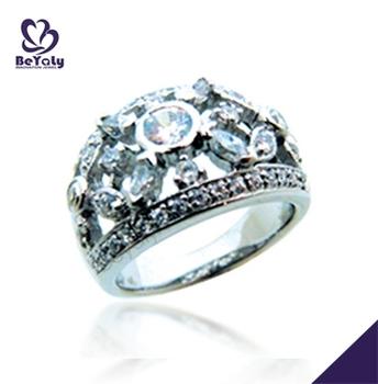 gemstone decoration silver premier jewelry spoon ring