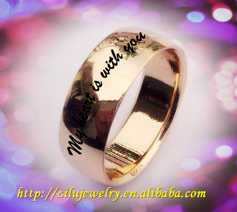 Wholesale fashion style stainless steel stainless steel 18 carat yellow gold wedding rings