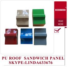 Roofing steel color 30mm PU sandwich Panel
