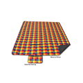 Custom Waterproof Outdoor Red Picnic Blanket Adult Products Grass Mat for Stadium