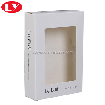 350gsm Art Paper Window Packaging Box with PVC Window