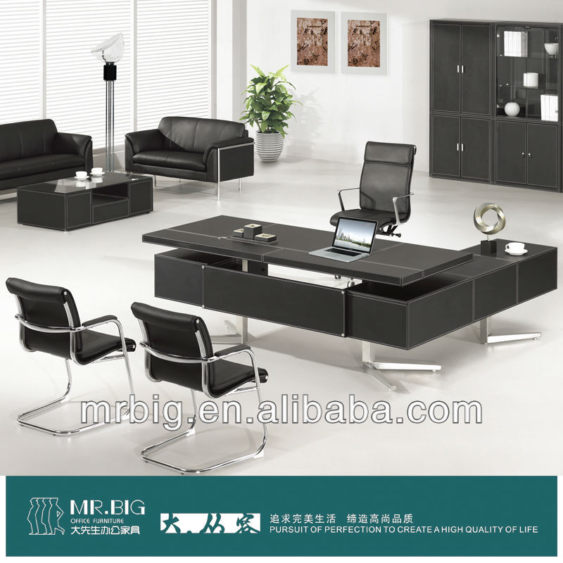 Modern office executive table leather desk PT-01