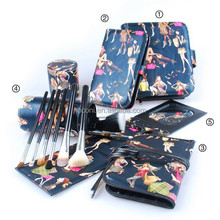 5 pcs cosmetic bag set pu cosmetic bag