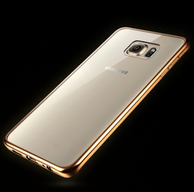 2016 High quantity customize Laser carving plating phone case for Samsung S7 soft case