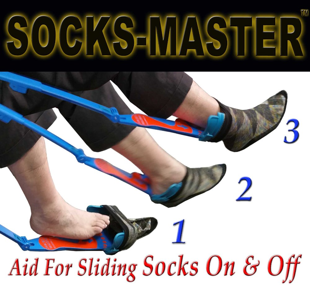 Best Selling 2016 Aiding Gizmo Helps Put Socks On & Off with Shoehorn-Quality Adjustable - Great For Elderly