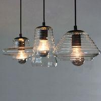 Modern wooden round pendant light for high ceiling lighting